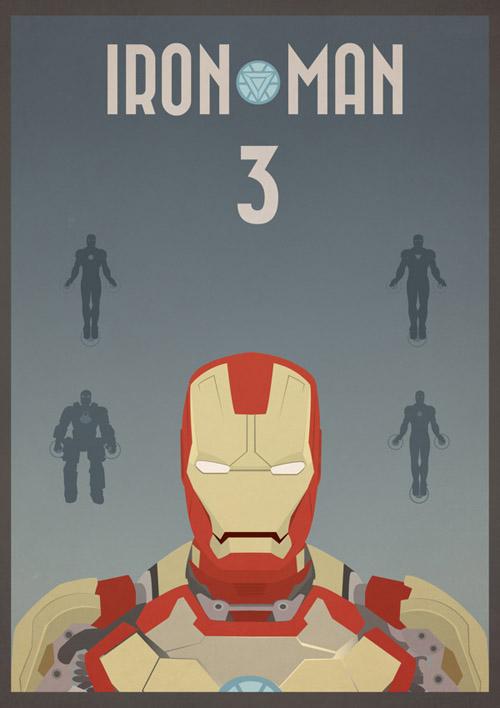 Iron Man 3 - Vintage Poster