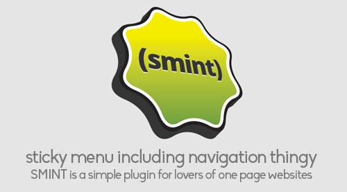 Smint: jQuery Plugin for Smooth Menubar Scroll