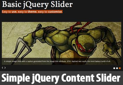 Simple jQuery Content Slider: Basic jQuery slider