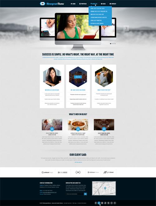 Business Website PSD Templates-22