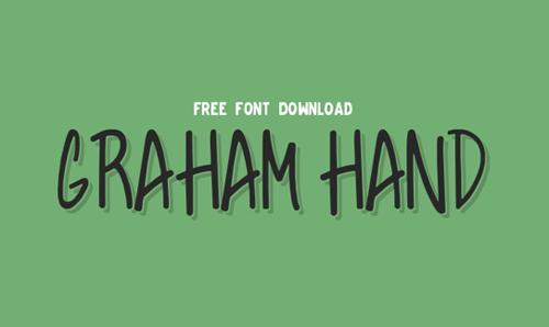 Graham Hand Free Fonts