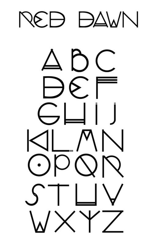 Red Dawn Free Display Font