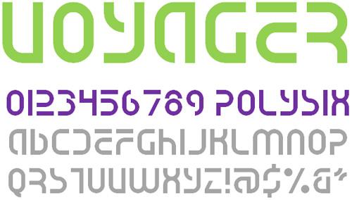 Voyager NBP Font