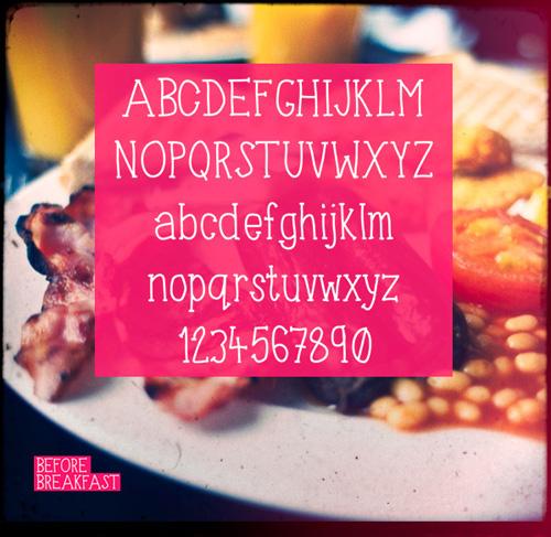 Before Breakfast Free Font