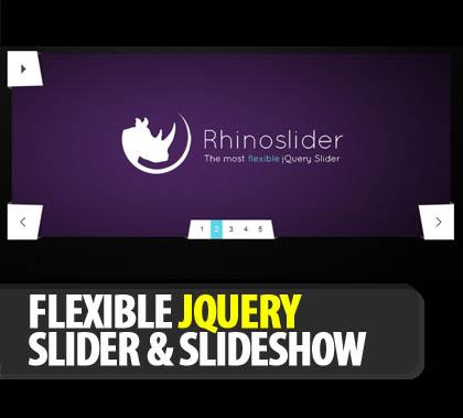 Flexible jQuery Slider & slideshow: Rhinoslider