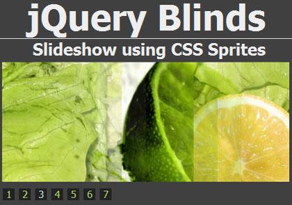 jQuery Slideshow Using CSS Sprites: jQuery Blinds
