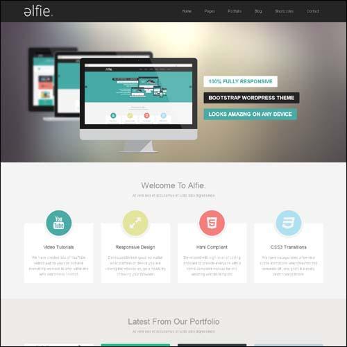Alfie The Responsive Bootstrap WordPress Theme