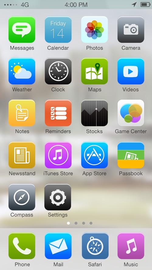 Apple iOS 7 Redesign