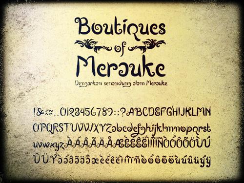 Boutiques of Merauke Free Font