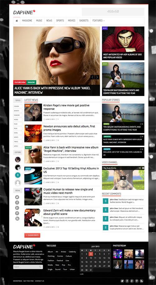 Daphne - WordPress Responsive News Theme