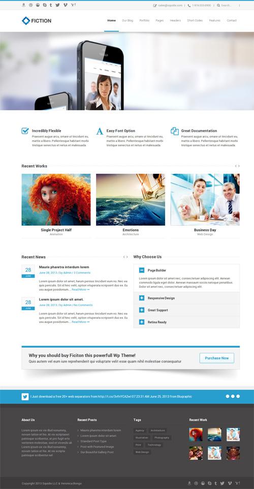 Fiction | Flexible and Responsive WordPress Theme