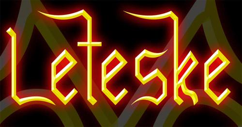 Leteske Free Fonts
