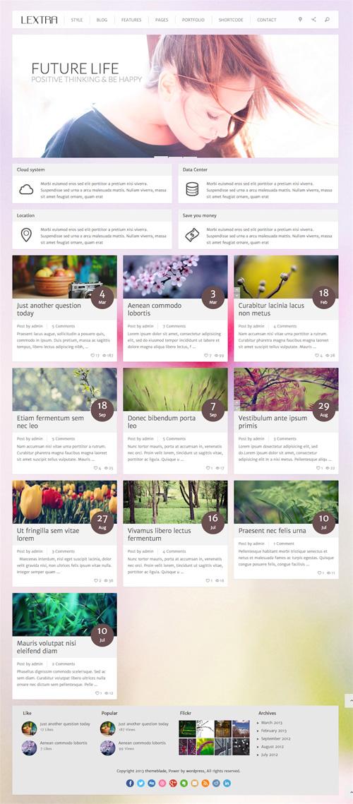 Lextra - Clear Style WordPress Theme