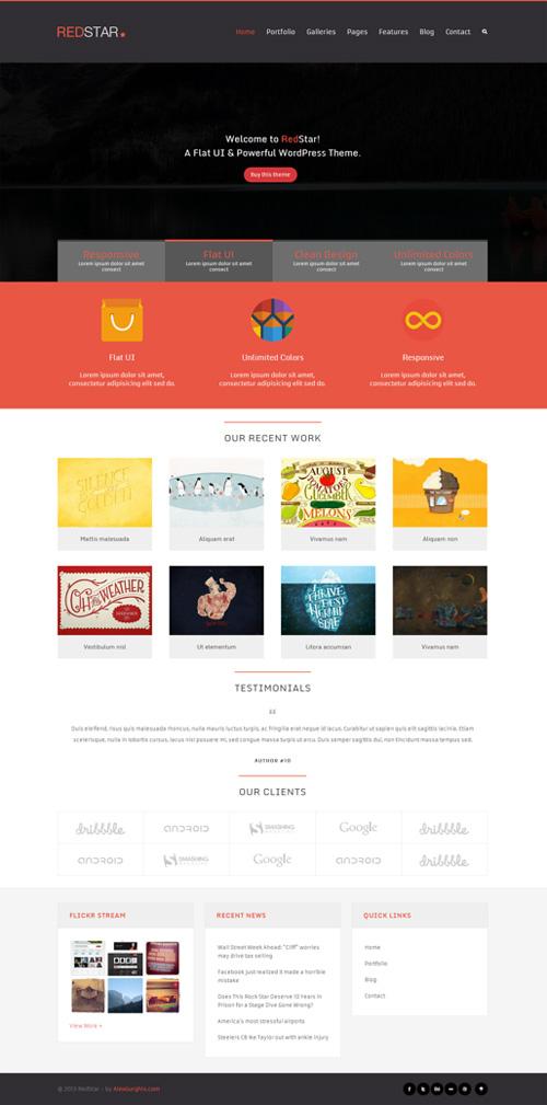 RedStar - A Creative WordPress Theme
