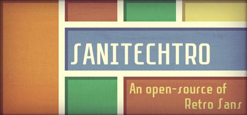 Sanitechtro Free Fonts