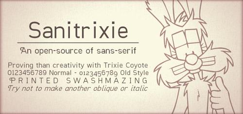 Sanitrixie Free Font