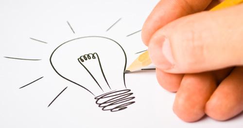 Sketching logo design ideas