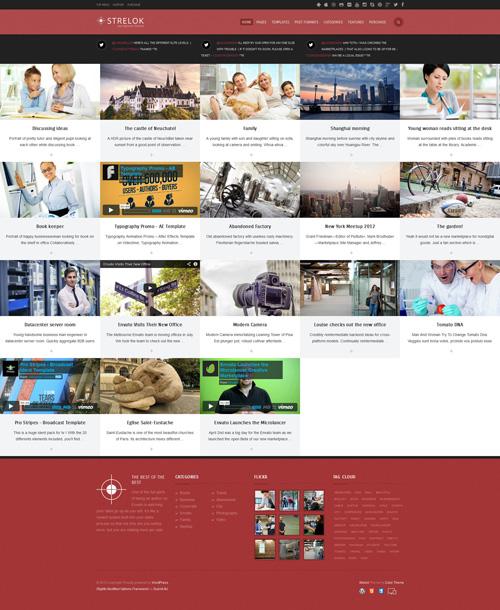 Strelok - Retina Responsive WordPress Blog Theme