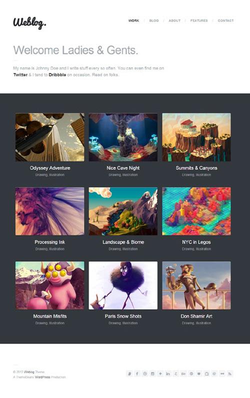 Weblog - A Creative's Portfolio &amp Blog Theme