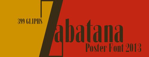 Zabatana Poster Free Font