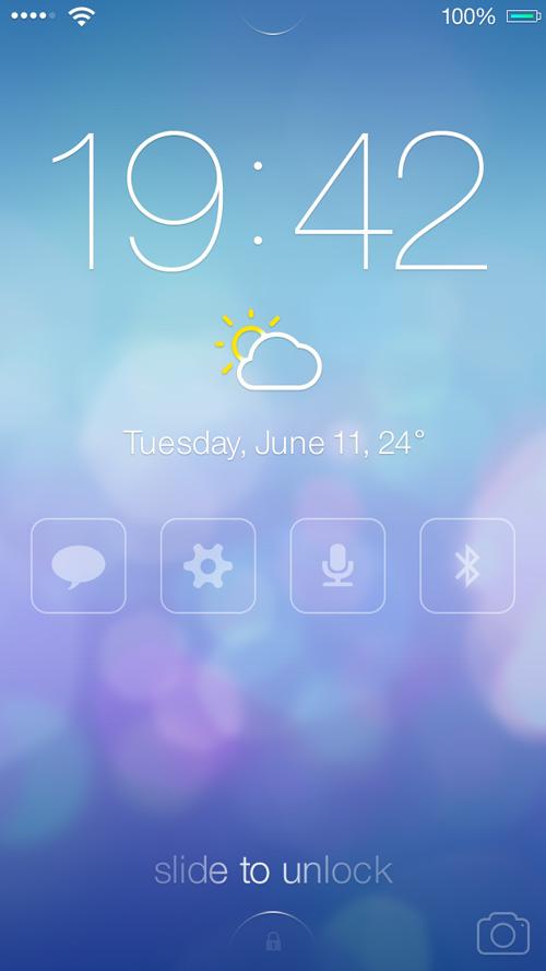 iOS7 Lock screen - Redesign Concept