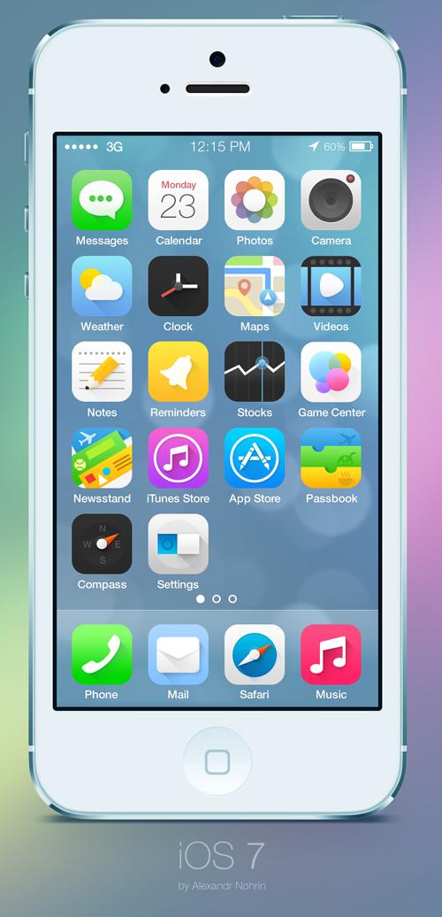iOS 7 icons