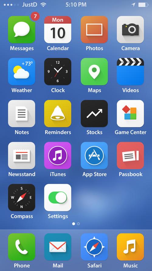 iOS 7 Real Pixel