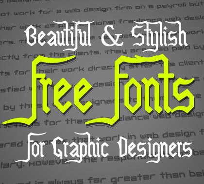 Stylish free fonts for designers