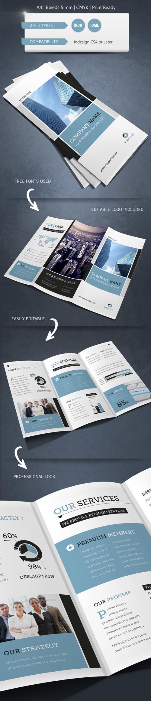 Modern Business Trifold Brochure