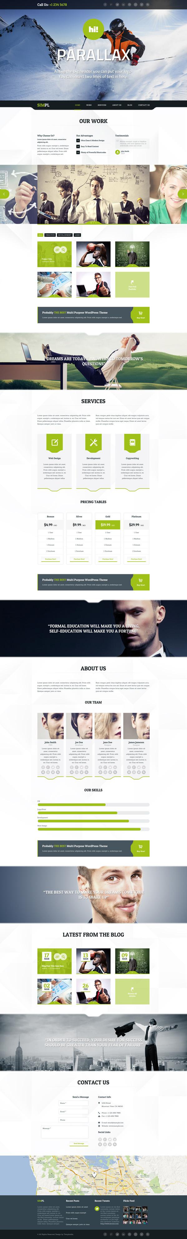 SIMPL - Clean Modern Portfolio & Business Theme