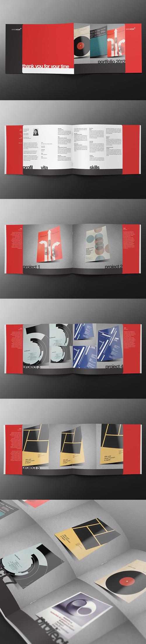 Swiss Series - Landscape A4 Brochure