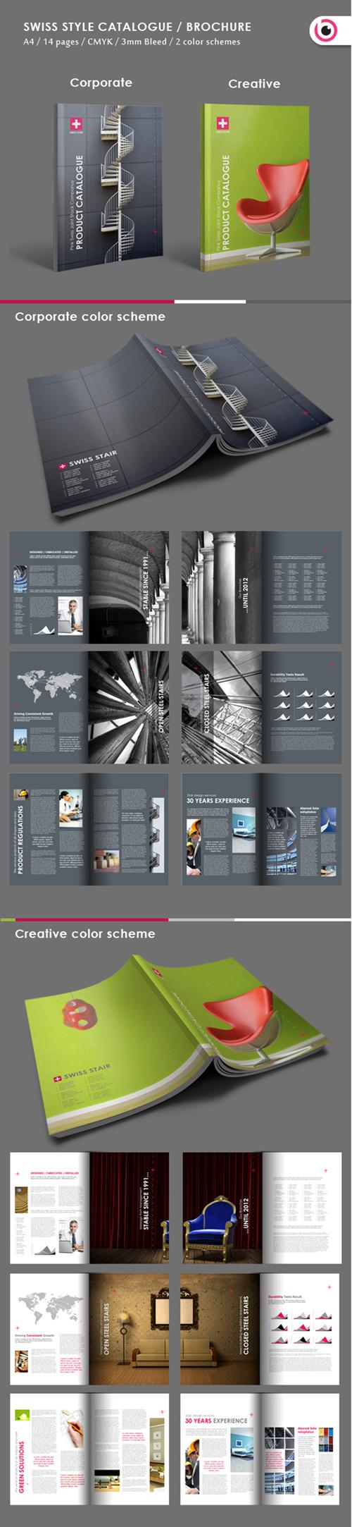 Swiss Style Brochure Template