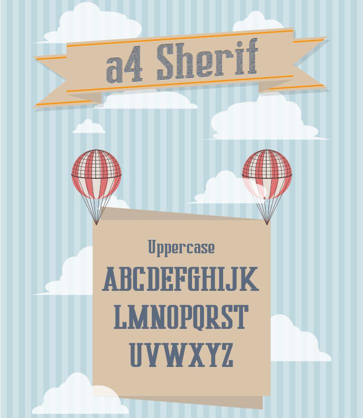 A4 Sherif free font