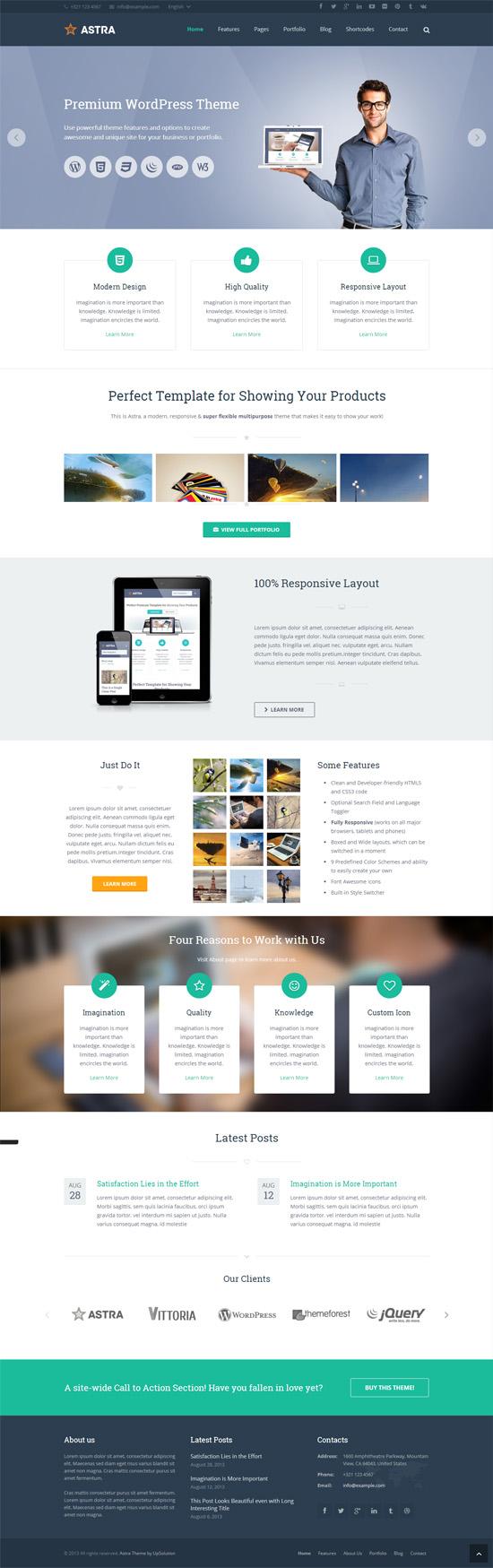 Astra – Retina Responsive WordPress Theme