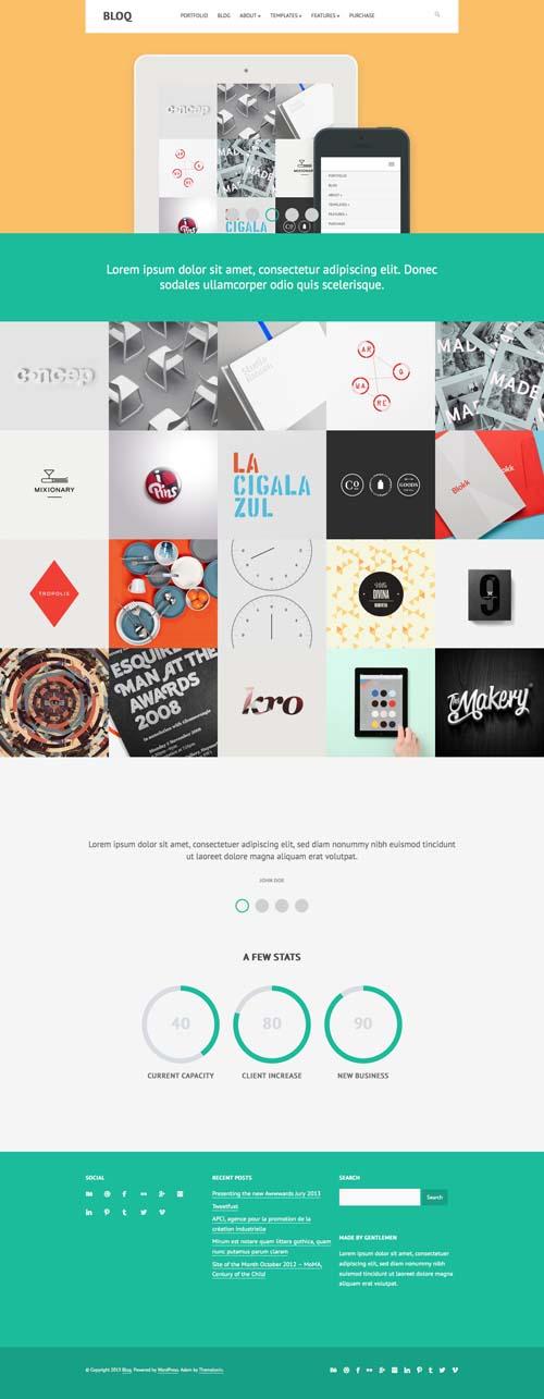 Bloq: Responsive and Multipurpose Flat Theme