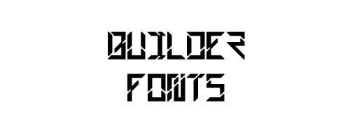 Builder Free Font
