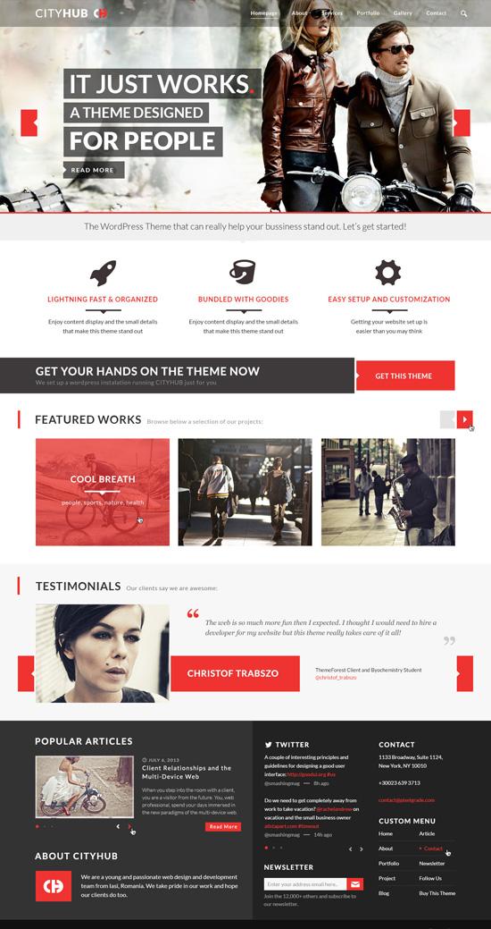 CityHub: Responsive Agency Blog WordPress Theme