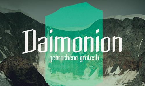 Daimonion free font