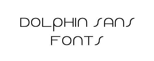 Dolphin Sans Free Font