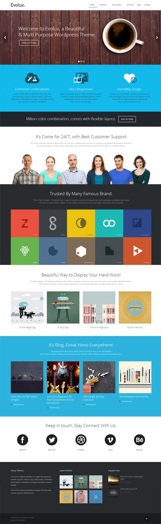 Evolux – Responsive Multi-Purpose WordPress Theme