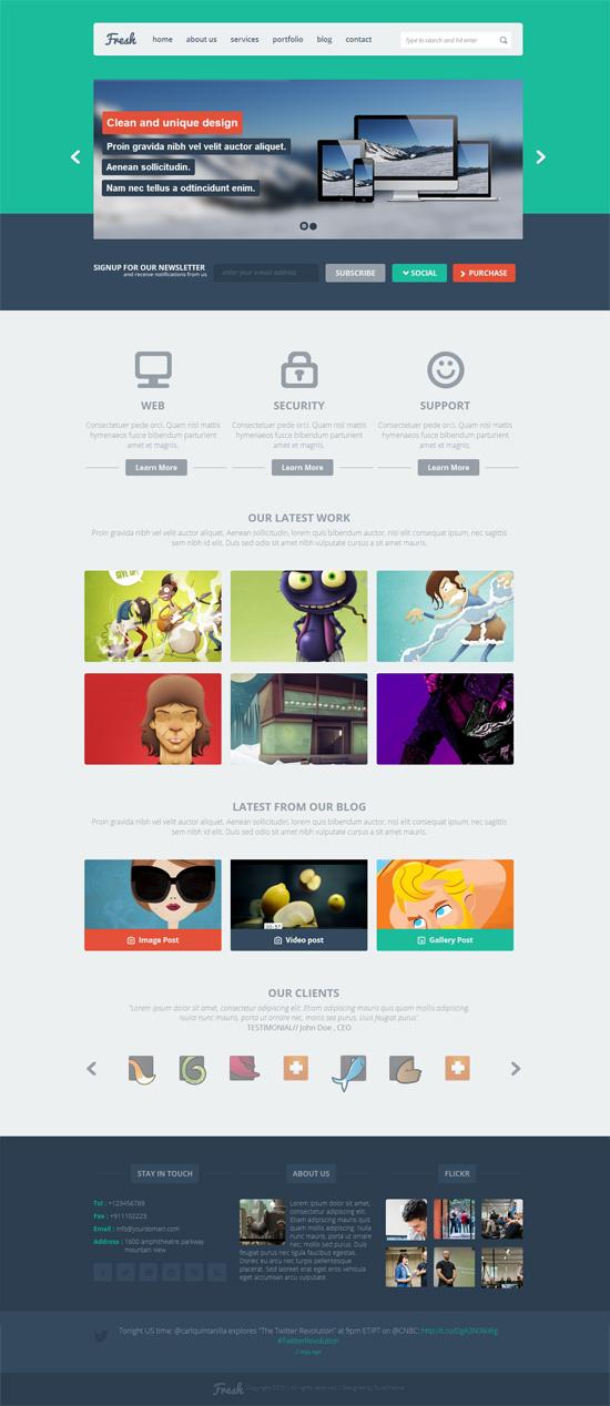 Fresh – MultiPurpose Flat Responsive WordPress Theme