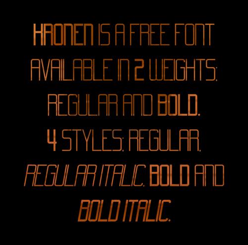 Kronen free font