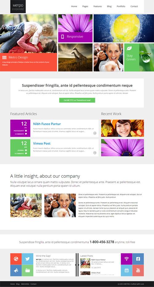 Metpo – Modern Responsive Retina WordPress Theme
