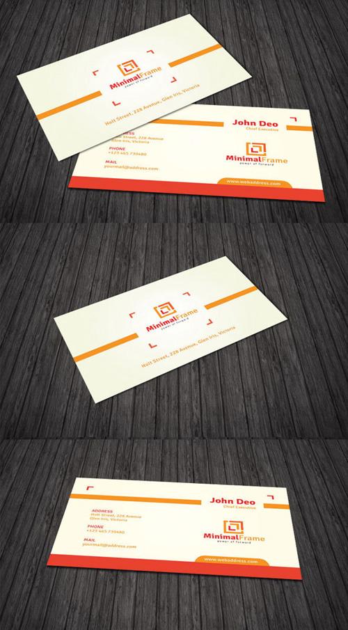 Minimal Frame Business Card