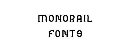 Monorail Free Font