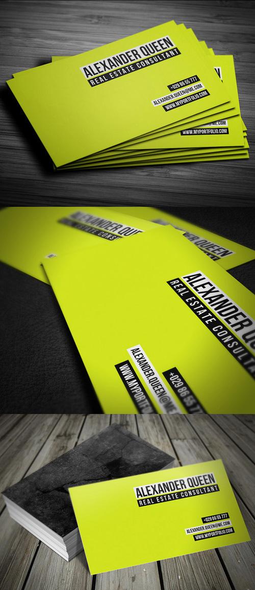 Neon Concrete Business Card