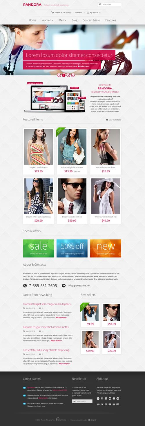 Pandora - Responsive WooCommerce HTML5 WordPress Theme