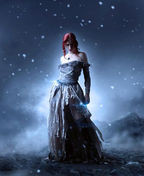Photo Manipulate a Beautiful Snow Queen Scene