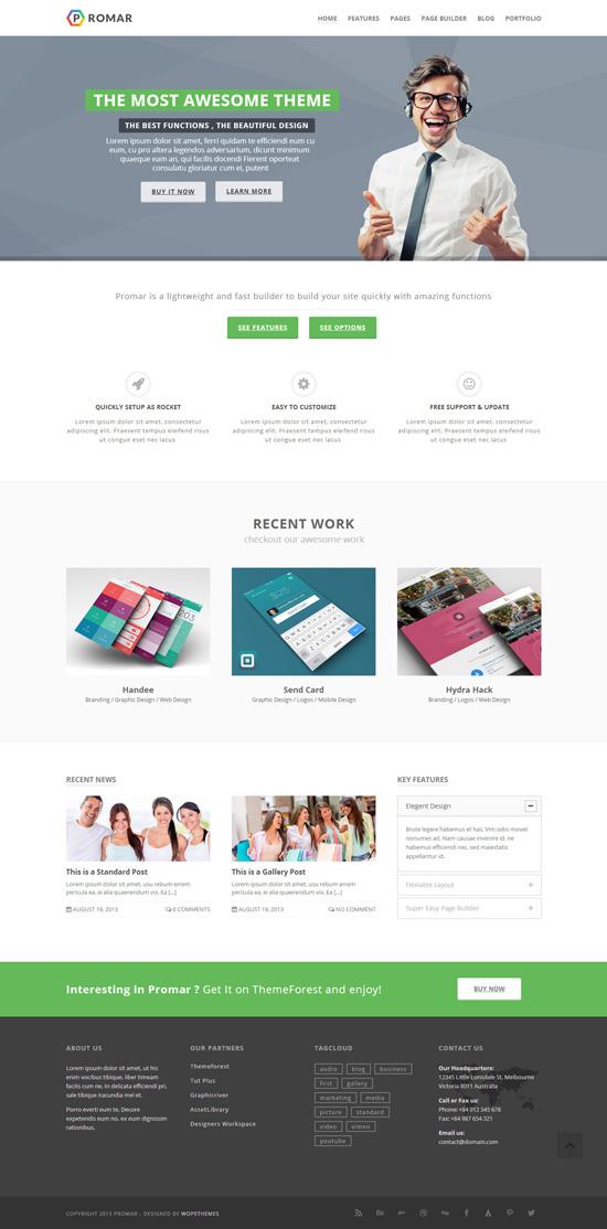 Promar – Responsive Multi Purpose WordPress Theme