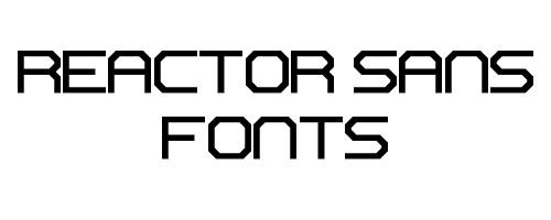 Reactor Sans Free Font